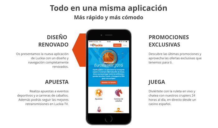 Luckia app