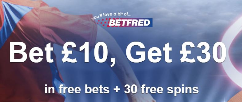 Betfred sports welcome bonus