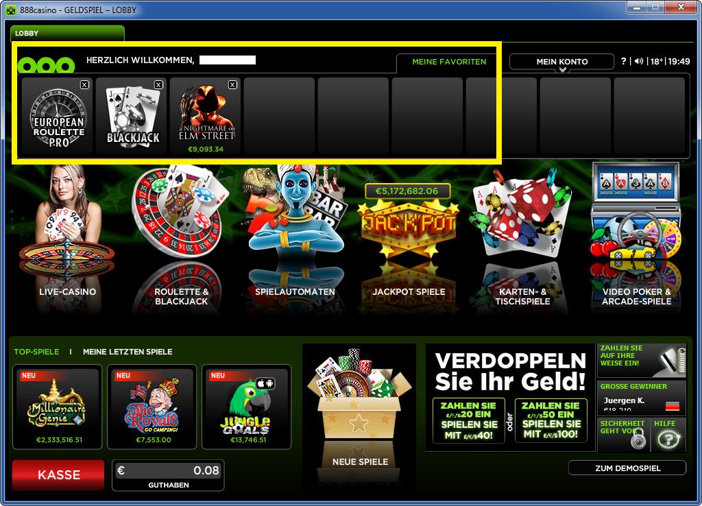 888-Casino-spielauswahl