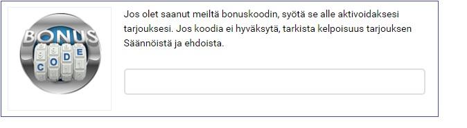 Bonuskoodi NordicBet