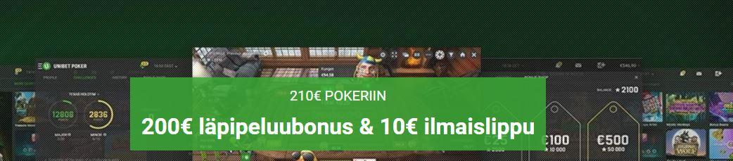 Pokeribonus unibet