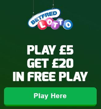 Betfred lotto bonus code is LOTTO20