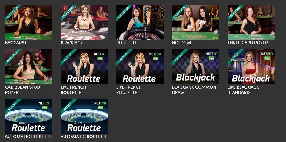 Casinohuone Live-kasino