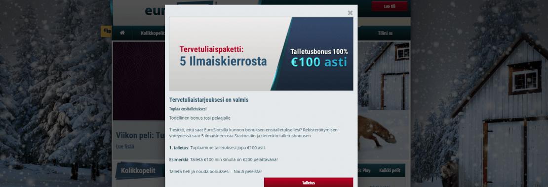 Euroslots Bonuskoodi