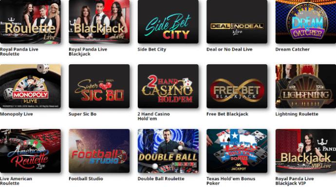 RoyalPanda Live Casino