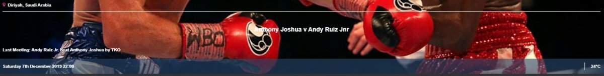 betfred Joshua vs Ruiz 2